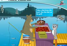 Игра Медведь рыбак