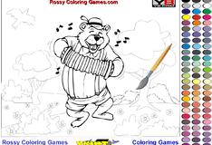 Игра Раскрась медведя