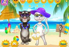 Игра Кошка Анжела и кот Том летом