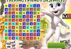 Игра Алмазная лихорадка друзей говорящего кота