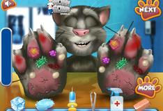 Лечение лапы кота Тома