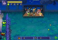 Игра Горошек против зомби