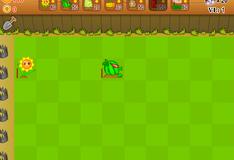 Игра Маленькая война между растениями и зомби