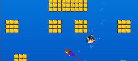 Игра Марио и рыбки