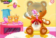 Игра Помой винтажного плюшевого мишку