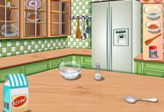 Сара готовит блинчики