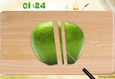 Игра Режем яблоко