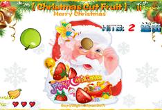 Резка фруктов на Рождество