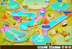 Семья развлекается в аквапарке
