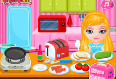 Игра Идеальный завтрак Малышки Барби