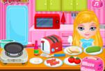 Играть бесплатно в Идеальный завтрак Малышки Барби