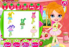 Игра Клубничный наряд для Малышки Барби