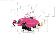 Розовая Пантера на машине