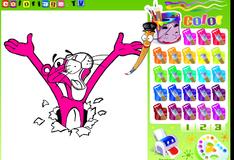 Розовая пантера Раскраска
