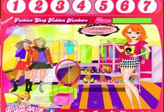 Игра Спрятанные цифры в магазине одежды