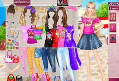 Игра Барби в магазине одежды