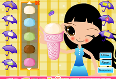 Десерт из мороженого