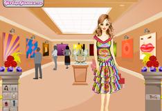 Катя в картинной галерее