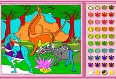 Игра Игра Раскраски Розы: эра динозавров