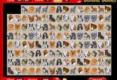 Игра Маджонг с собаками