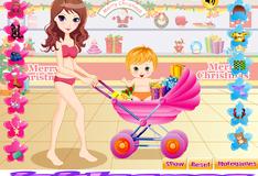 Игра Мама и дочка собираются за покупками