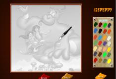 Игра Алладин раскраска