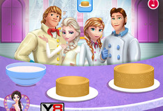 Игра Игра Холодное сердце: Кулинария - Свадебный торт