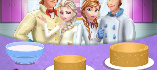 Игра Холодное сердце: Кулинария - Свадебный торт