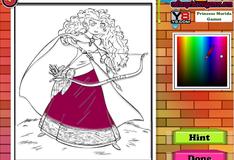 Игра Принцесса Мерида Раскраска