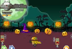 Игра Плохие свинки празднуют Хэллоуин
