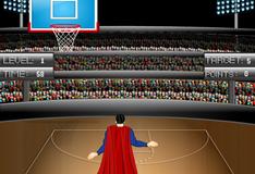 Игра Соревнование по баскетболу между Суперменом и Бэтменом