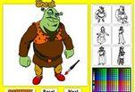 Играть бесплатно в Игра Шрек онлайн раскраски