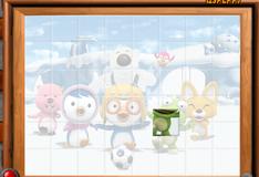 Пороро и друзья играют в футбол