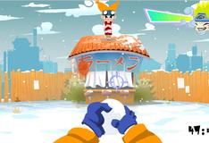 Игра Наруто стреляет снежками