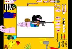 Игра Игра Креативный дизайн червячка воина