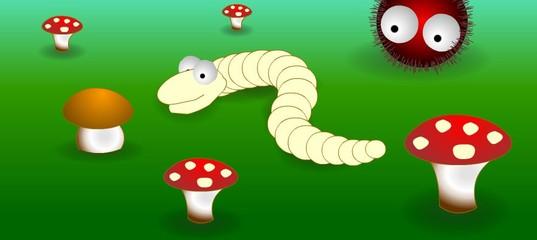 Игра Грибной червь