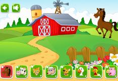 Животные на большой ферме