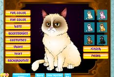 Игра Новый образ для  угрюмого кота