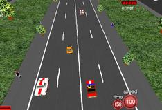 Игра Гонщик на красном авто