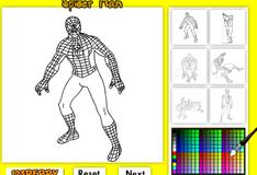Человек Паук: Раскраска онлайн
