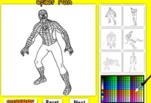 Игра Человек Паук Раскраска онлайн