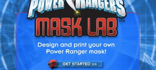 Игра Могучие рейнджер: Маска для лаборатории