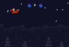 Игра Майнкрафт: Санта летает