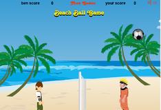 Игра Игра на двоих: Наруто и Бен 10 играют в волейбол