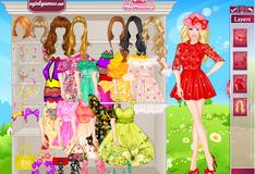 Игра Барби летняя одевалка
