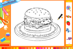 Раскрась бургер