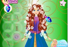 Прическа для принцессы Мериды