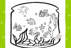 Игра Аквариум с рыбками раскраска