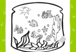 играйте в Аквариум с рыбками раскраска