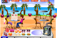 Обслуживание в ресторане на пляже